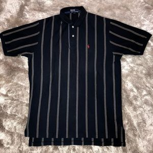 Vintage POLO Ralph Lauren Navy Blue Striped Polo